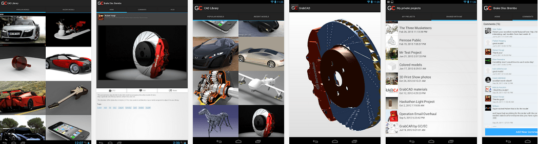 solidworks grabcad android uygulaması