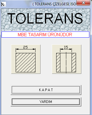 tolerans hesaplama programı