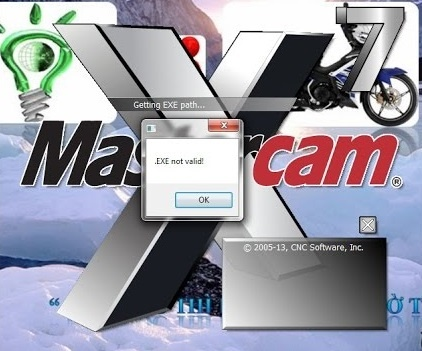 mastercam EXE not valid hatası